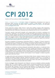 Doc.D - Indice di Percezione della Corruzione Italia 2012