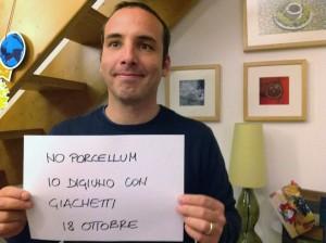 Alessandro Danè digiuna con Giachetti