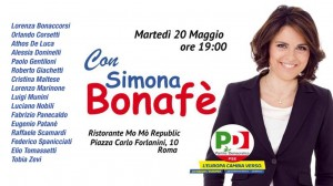 evento Bonafè