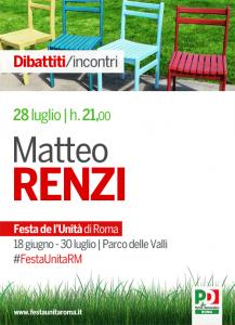 Matteo Renzi alla Festa dell'Unità di Roma